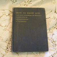 How to Know God the Yoga Aphorisms of Patanjali first edition English translation 1953