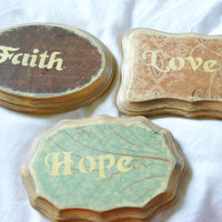 Faith, Hope, and Love Home Decor, Distressed Decor