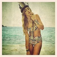 AS SEEN in DISFUNKSHION Magazine: Create your own Hilo Ruffle Bikini Top