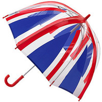Fulton Funbrella Birdcage Union Jack -  PVC See Through Dome Umbrella for Children
