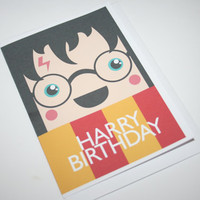 HARRY birthday card Harry Potterthemed by gretchyisadinosaur