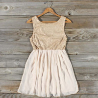 Champagne & Chiffon Dress, Sweet Women's Bohemian Clothing