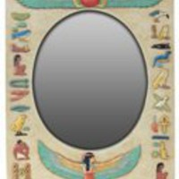 Egyptian Art | Isis Kneeling Wall Mirror