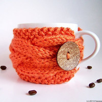 Orange Cup Cozy 