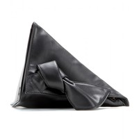 Wedge leather clutch