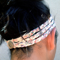 Three-Strand Braided T-Shirt Headband (I Smell Florals)