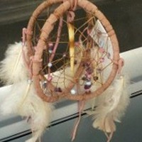 5 inch double dream catcher with a portuguese porcupine quill