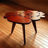Modern Circles Coffee Table Small Maple Plywood by michaelarras