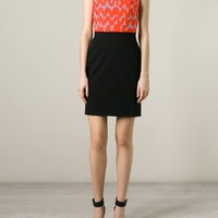 Markus Lupfer Scribble Print Fitted Dress - Jeurissen - Farfetch.com