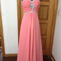 One shoulder A-line Chiffon Floor-length Ball gowns Bridal Gown Bridesmaid Dress Evening Prom Dress