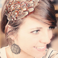 Feather Headband All Ages Unique and Eye Catching by adelitakelly