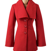Shawl Collar Coat Lipstick - Dress Coats - COATS - Jessica Simpson Collection