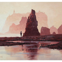 BEACH PAINTING Washington Ruby  Beach Fine Art Impressionist Seascape by Award winning Artist Graham Gercken