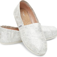IVORY SILVER FLORAL JACQUARD WOMEN'S CLASSICS