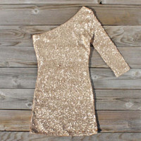 Golden Moon Party Dress, Sweet Women&#x27;s Bohemian Clothing