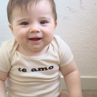 $14.00 Te Amo Baby ORGANIC Cotton Baby/Infant Bodysuit in by neenacreates