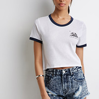 California Graphic Crop Top