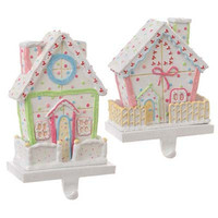RAZ House Christmas Stocking Holder Set of 2