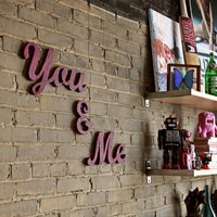 Wedding and Engagement signs You and Me made from reclaimed wood