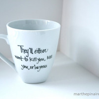 hunger games hand painted mug