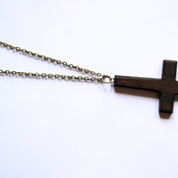 Up Side Down Cross Necklace