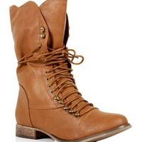 Pre-Order: Tan Lace Up Oxford Boots