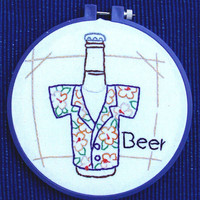 Hand embroidered fun wall hanging