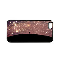 "Iphone 5 case. Stars. Night. Sky. Purple. Love. Silhhouettes. Black. Dreamy. Surreal. Girly. ""Love Under the Stars"" Galaxy. Space. Cool"