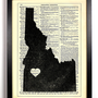 Idaho State Dictionary Book Print Upcycled Book Art Upcycled Vintage Book Print Antique Dictionary Buy 2 Get 1 FREE