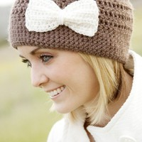 Cloche Hat  with minibow by LapofLuxury on Etsy