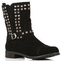 Black Pyramid Studded Boots
