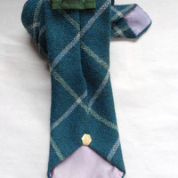 Vintage Resilio Men's Tie / Mens Wear / Neck Tie / Blue Plaid