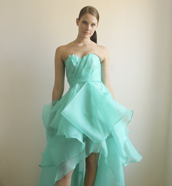 Cassandra Silk Organza Gown SAMPLE SALE by Leanimal on Etsy