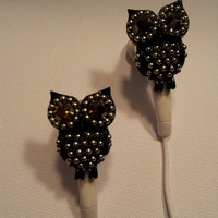 There Back in the shop  Black Crystal Owl Earbuds