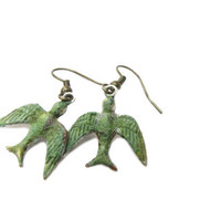 Bird  Charm Dangle Earrings Metal  Earring