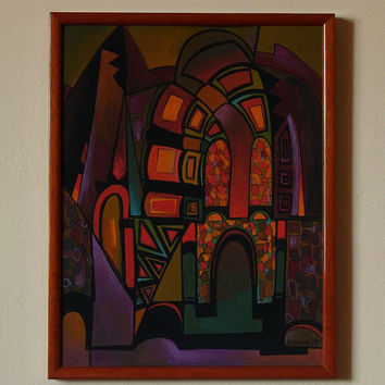 GLITTER - Original painting from the cycle ARCHES