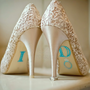 "BLUE ""I Do"" Wedding Shoe Rhinestone Applique"