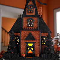 Exotic Excess -   Halloween Decor: Orange Halloween House