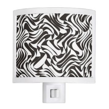 Elegant Black & White Design - Night Light