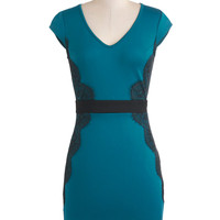 Up Teal Dawn Dress | Mod Retro Vintage Dresses | ModCloth.com