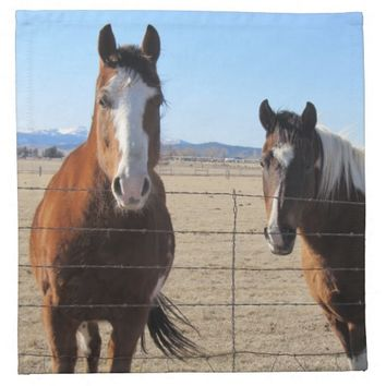 Horse Cloth Napkins