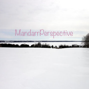 Colpoys Bay in Winter, Digital Photography Download, Landscape Photo