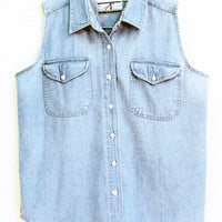 Vintage Sleeveless Denim Shirt | VINTAGE Clothing | BOGATTE
