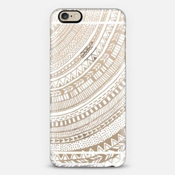 White Tribal on Clear iPhone 6 case by Tangerine- Tane | Casetify