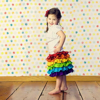Girls Rainbow Birthday Skirt, children's clothing, kids, toddler, baby