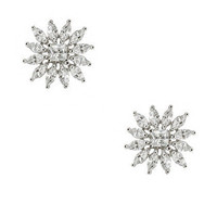 CZ by Kenneth Jay Lane Starburst Earrings