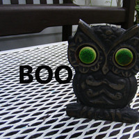 Vintage Owl Napkin Holder Cast Iron by GSArcheologist on Etsy