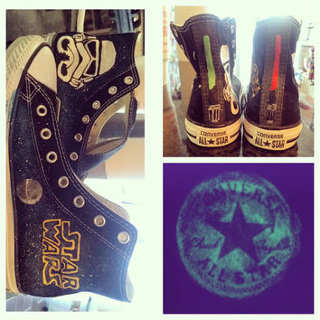 Star Wars customized converse shoes