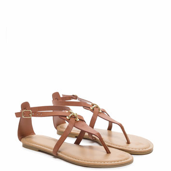 Plus One Cross Strap Thong Sandals