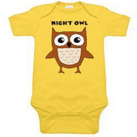 Night Owl Yellow One Piece for babies at My Baby Rocks